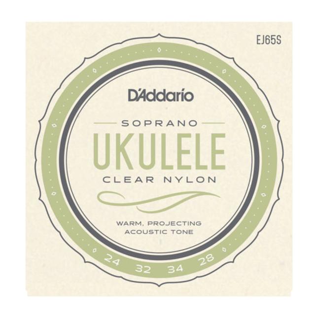 D'Addario EJ65S Pro-Arté Custom Extruded Nylon Ukulele Strings Soprano