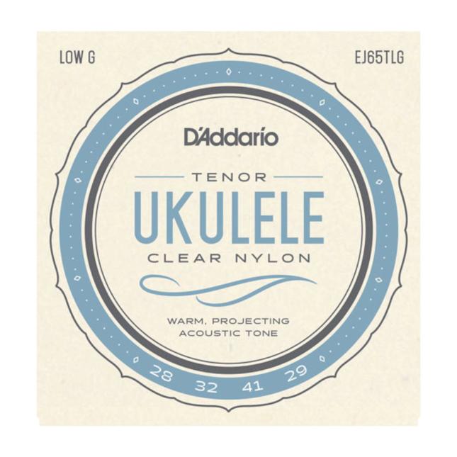 D'Addario EJ65TLG Pro-Arté Custom Extruded Nylon Ukulele Strings Tenor Low-G