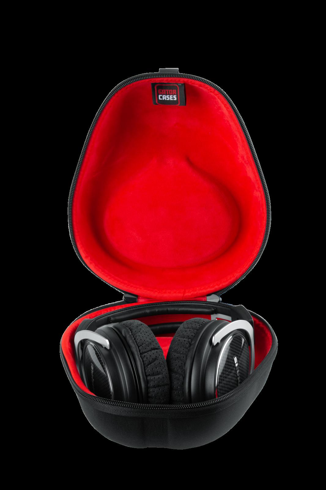 Gator G-HEADPHONE-CASE Molded Case for Folding & Non-Folding Headphones – Black Color