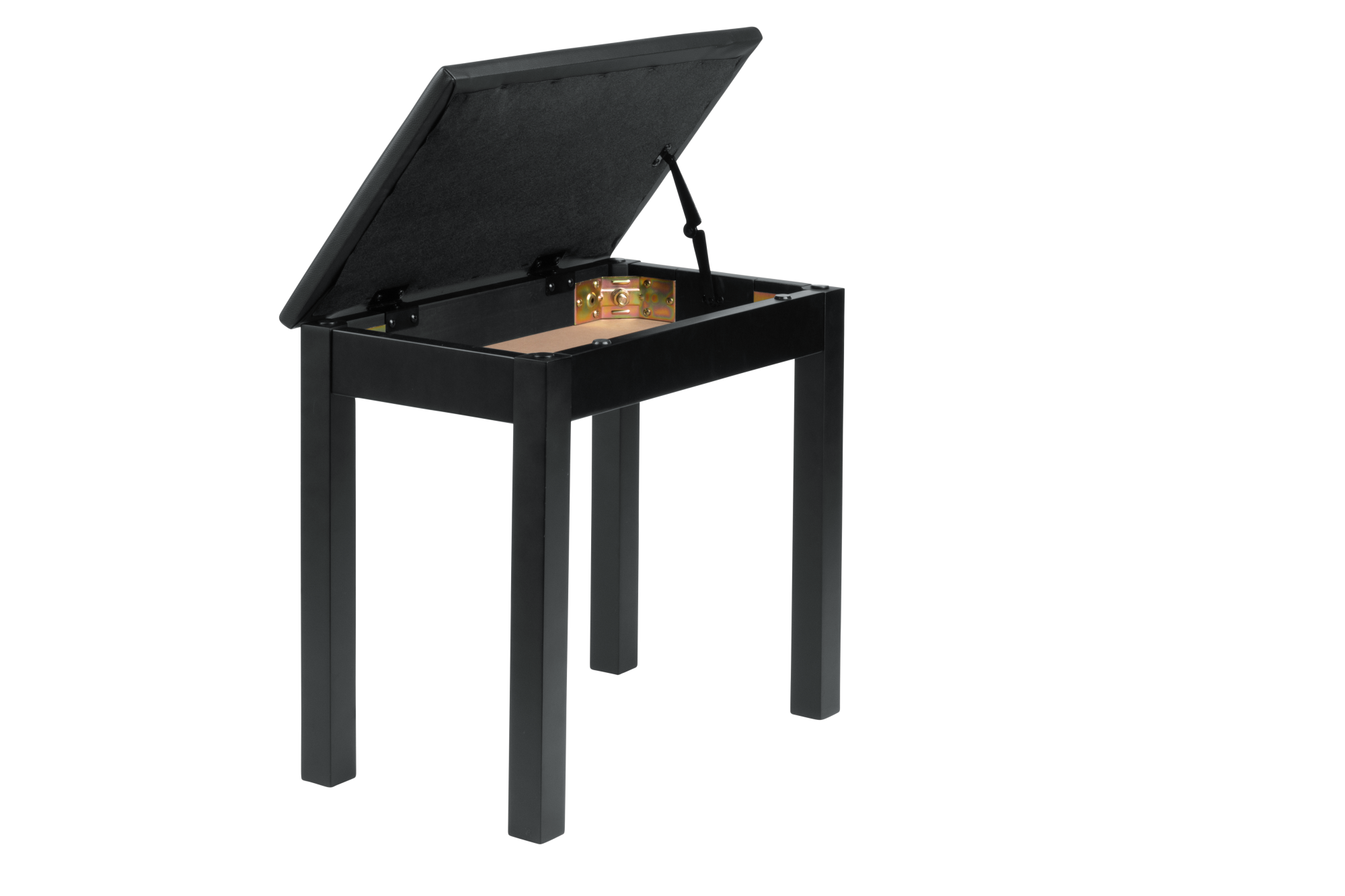 Frameworks GFW-KEYBENCH-WDBKS Deluxe Wooden Keyboard & Piano Bench with Flip-Up Storage Compartment – Black Color