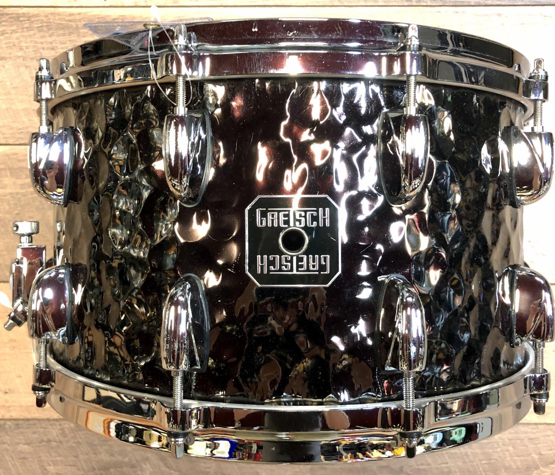 USED - Gretsch Hammered Black Steel Snare