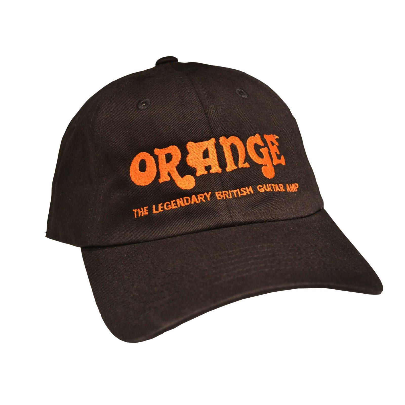 Orange HAT - Black Cap with Orange Logo