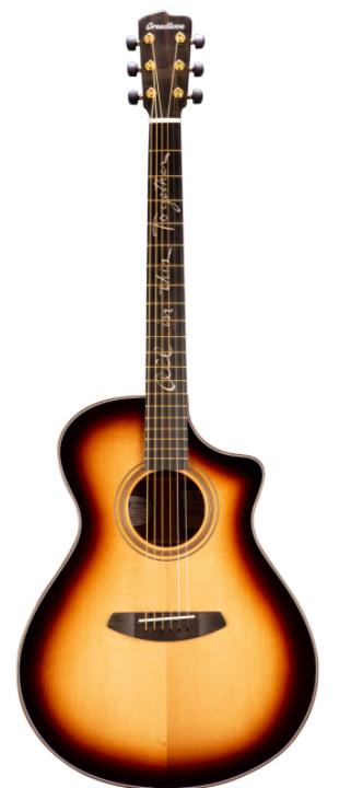 Breedlove AMCN14CETEGR(JB) Jeff Bridges Amazon Concert Sunburst CE Acoustic Guitar