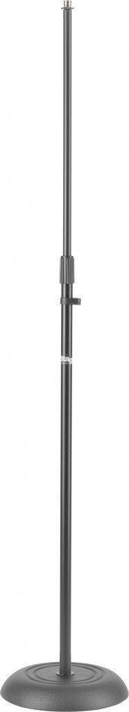 Stagg MIS-1120BK Round Base Microphone Floor Stand - Black