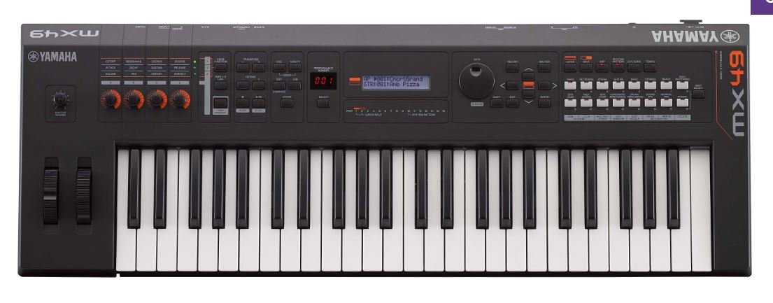 Yamaha MX49BU Black 49 Key Music Synthesizer