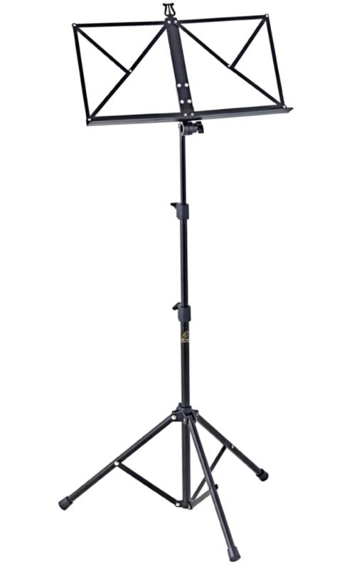Ortega OMS-1BK Portable Music Stand Adjustable Tube Design With Tote Bag