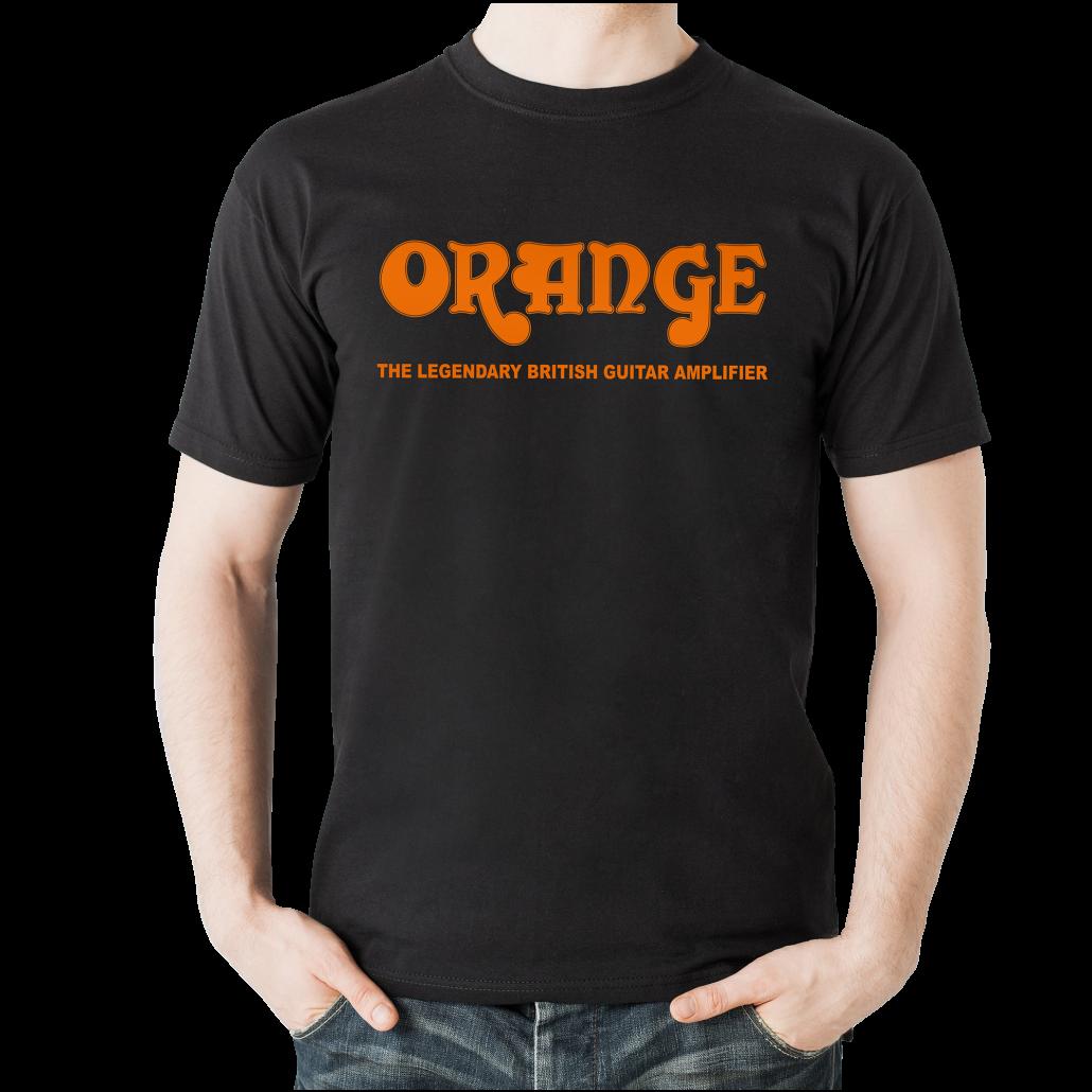 Orange Classic T Shirt Large - Black
