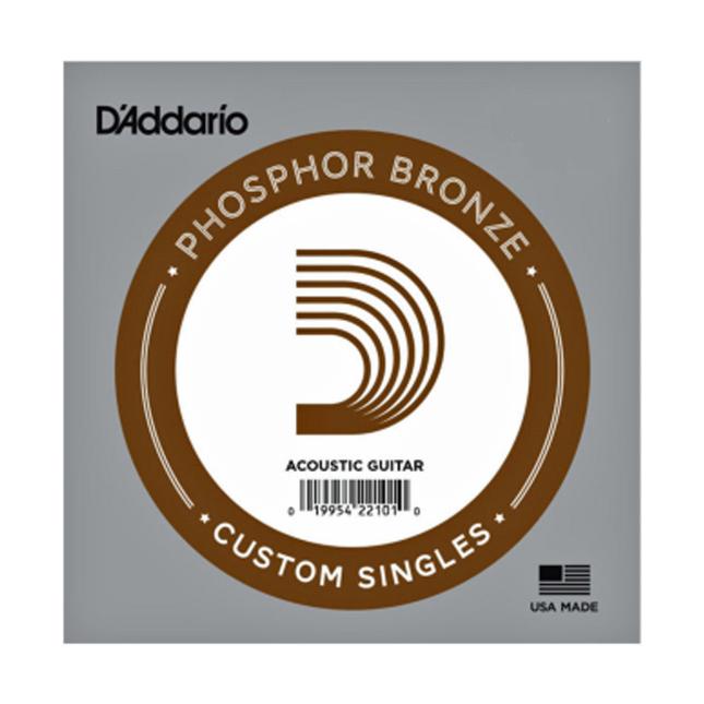 D'Addario PB022 Phosphor Bronze Wound Acoustic Guitar Single String .022