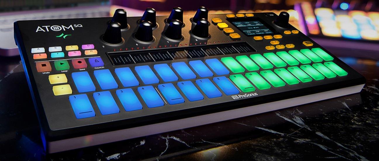Presonus ATOM SQ:  Hybrid MIDI Keyboard/Pad Performance and Production Controller