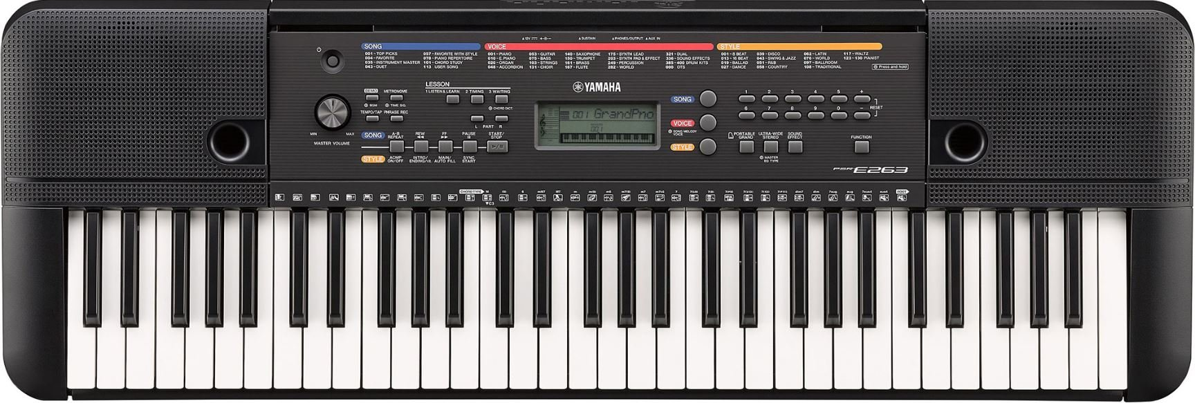 Yamaha PSRE263 61-Key Entry-Level Portable Keyboard