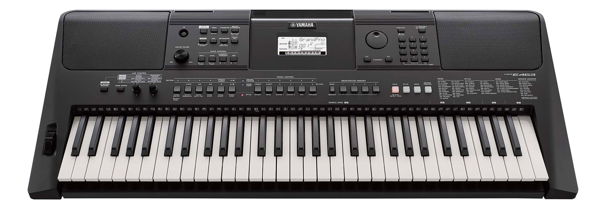 Yamaha PSRE463 61-key high-level portable keyboard
