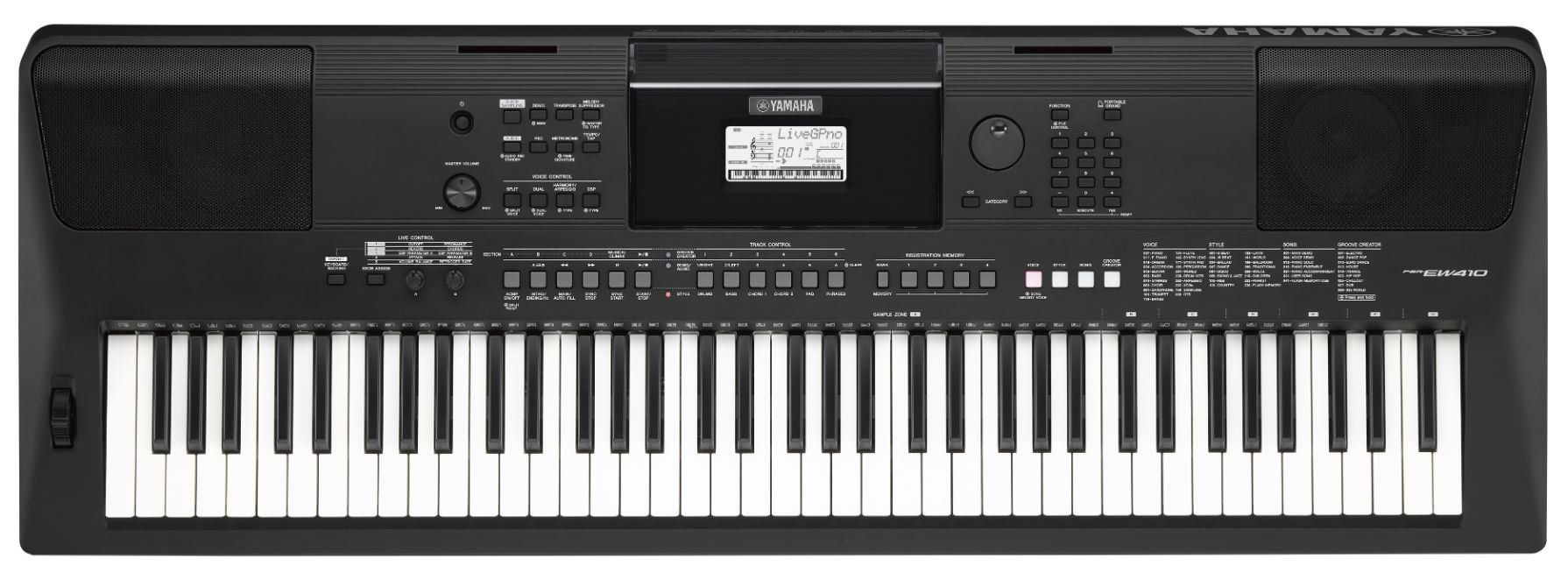 Yamaha PSREW410 76-Key High-Level Portable Keyboard