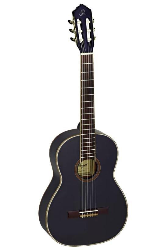Ortega R221BK Spruce Top Guitar With Mahogany Back & Side Gloss Finish Black Slim Neck w/Bag