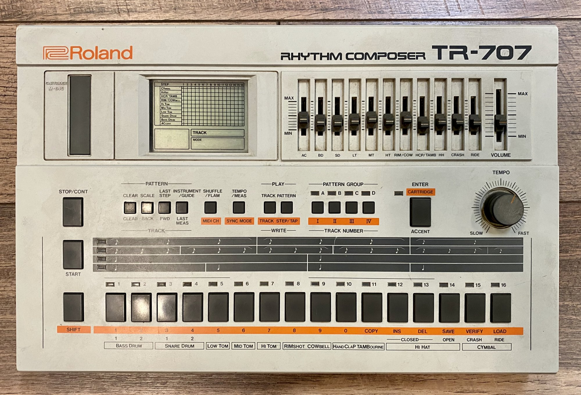 USED - ROLAND TR-707 W/PS