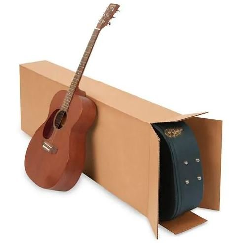 ULINE S-4922 20 x 8 x 50 275 lb FOL Side Loading Corrugated Guitar Boxes