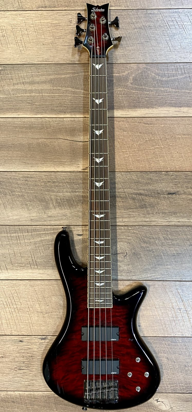 USED - Schecter Stiletto Studio 5-String Bass Guitar
