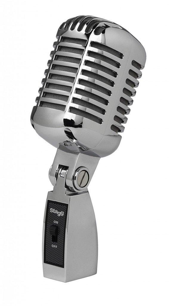 Stagg SDM100 CR Professional Vintage Style Cardioid Dynamic Microphone with cartridge DC04