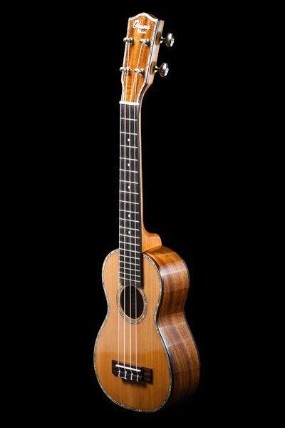 Ohana SK-250M Solid Cedar And Acacia Super Soprano Ukulele