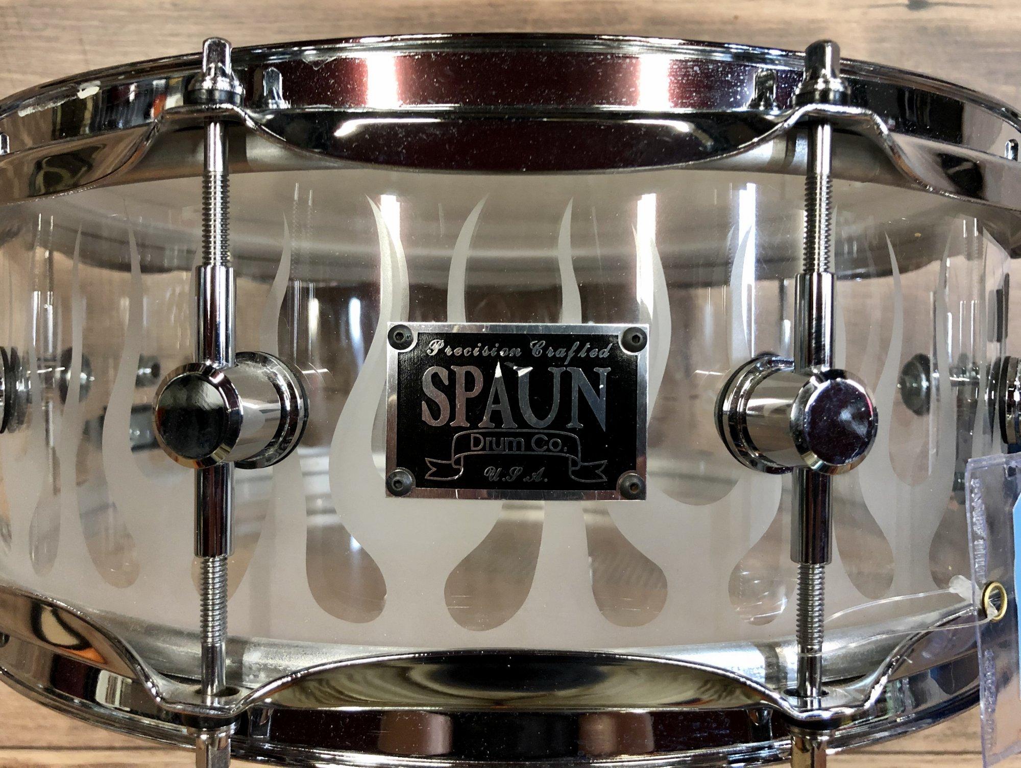 USED - Spaun Acrylic Snare Drum