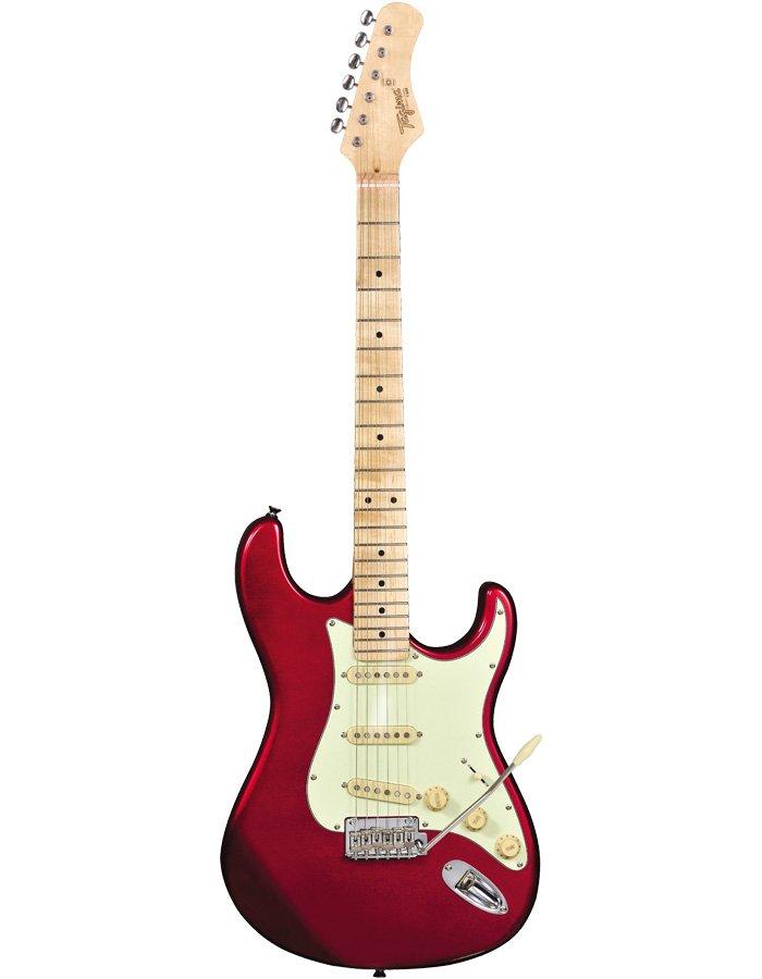 Tagima T-635 Classic MR LF/MG Electric Guitar Metallic Red w/ Maple Fingerboard and Mint Green Pickguard