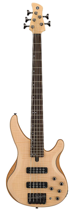 Yamaha TRBX605FM NS Active 5-String Bass Guitar, Natural Satin