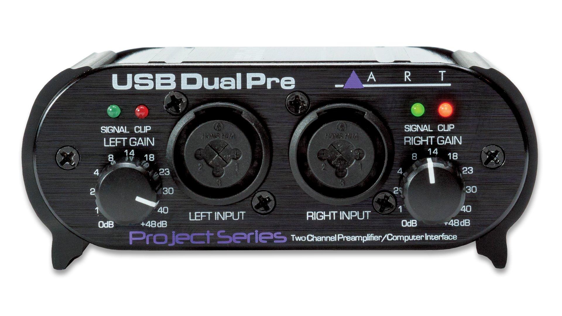 ART USBDUALPREPS Dual Preamp 2-Channel PreAmp/Computer Interface