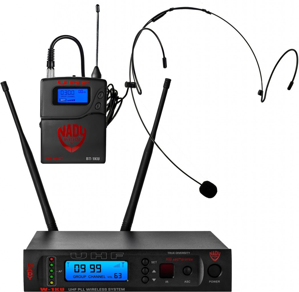 NADY W-1KU HM-10 Pro UHF Headset Wireless System