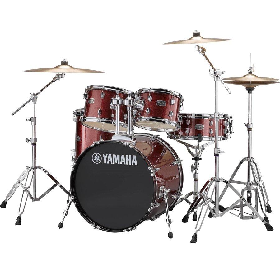 Yamaha RDP0F56WWUBGG Rydeen Burgundy Glitter: 5-pc Kit w/ Hardware & Cymbals
