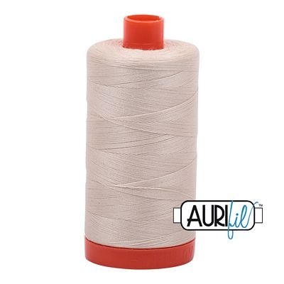 Cotton Mako Thread 50wt 1300m - LIGHT BEIGE