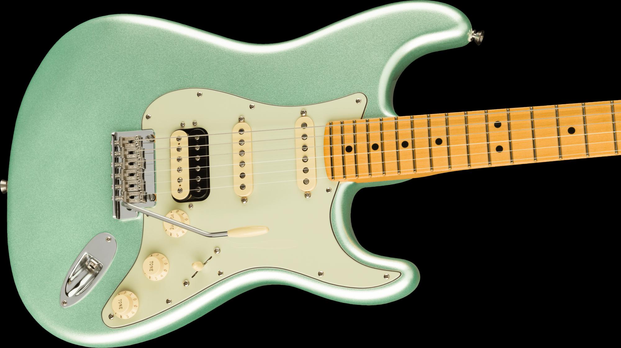 Fender American Professional II Stratocaster HSS Maple Fingerboard - Mystic Surf Green