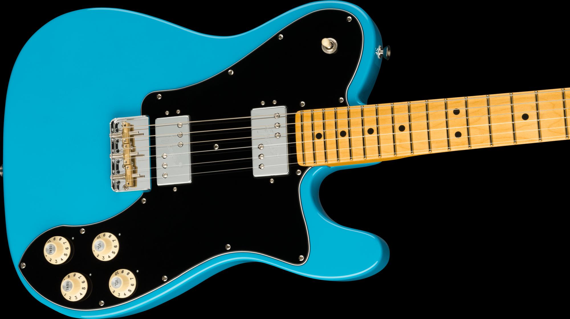 Fender American Professional II Telecaster Deluxe Maple Fingerboard - Miami Blue