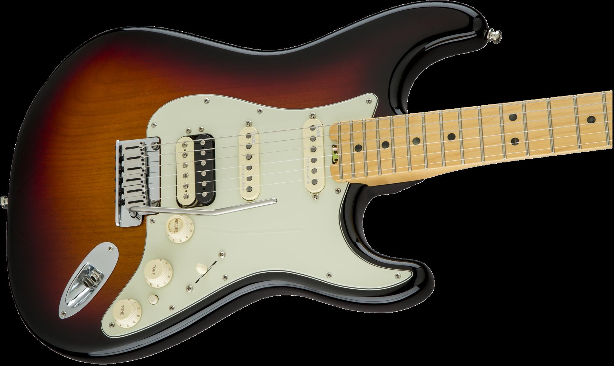 Fender American Elite Stratocaster HSS ShawBucker, Maple Fingerboard, 3-Color Sunburst