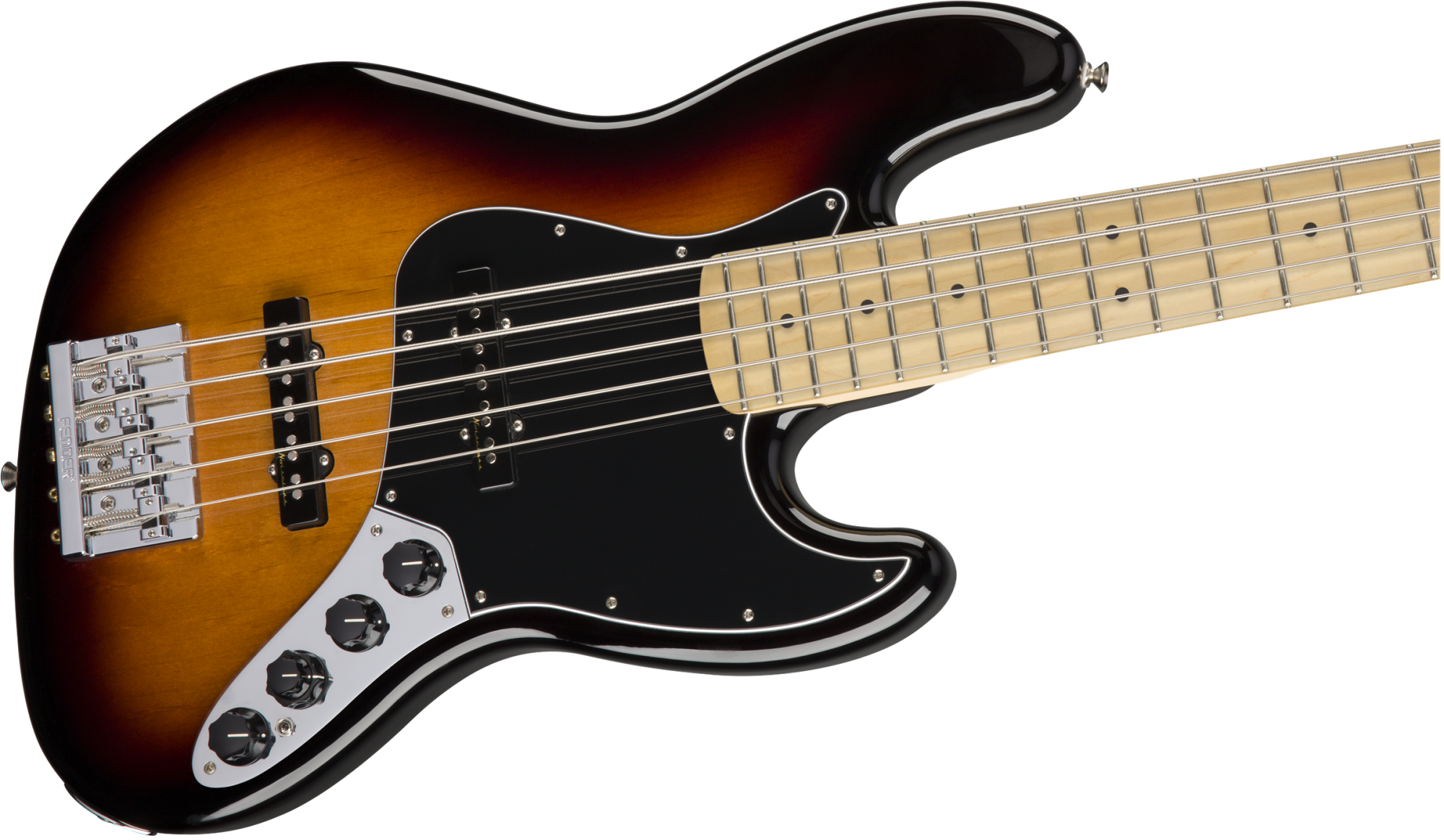 Fender Deluxe Active Jazz Bass V Maple Fingerboard - 3-Color Sunburst