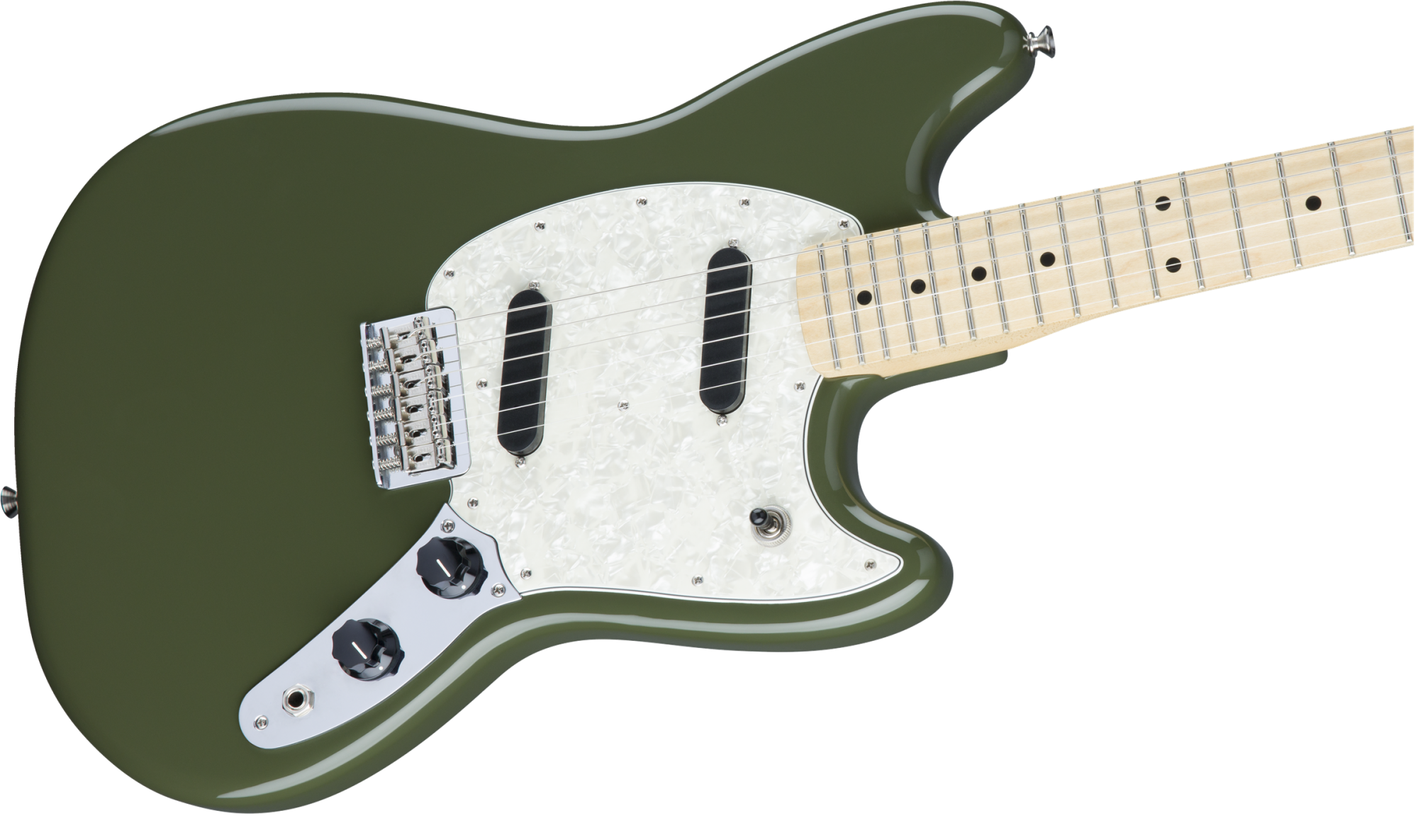 Fender Mustang, Maple Fingerboard, Olive