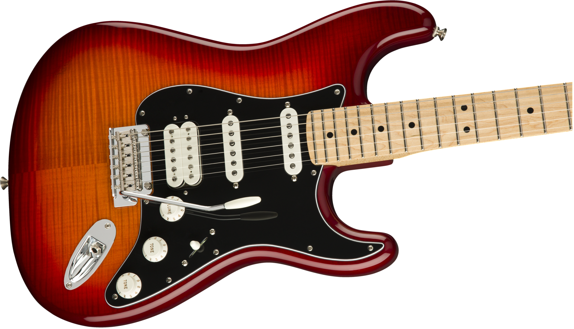 Fender Player Stratocaster HSS Plus Top, Maple Fingerboard, Aged Cherry Burst