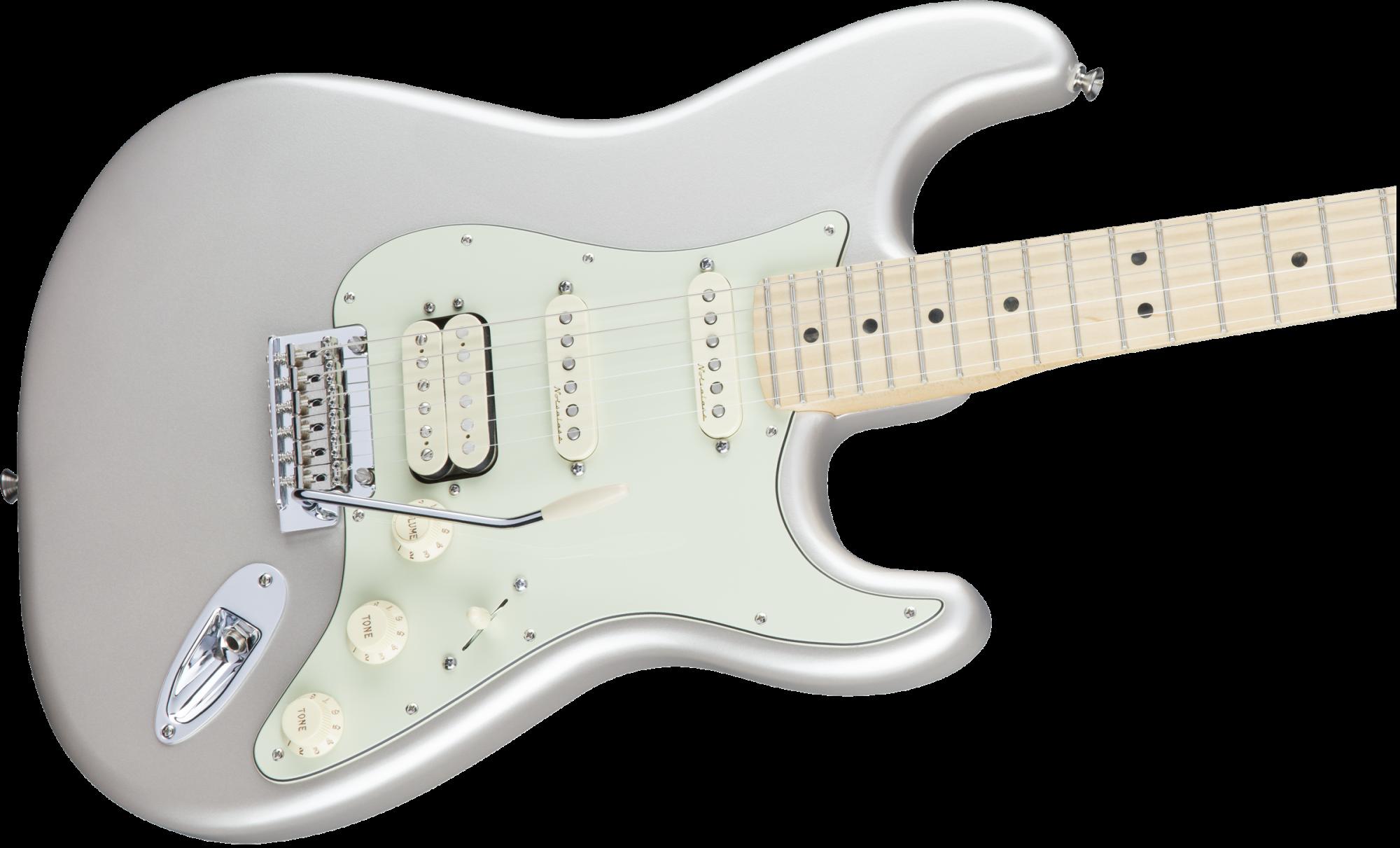 Fender Deluxe Stratocaster HSS Maple Fingerboard - Blizzard Pearl