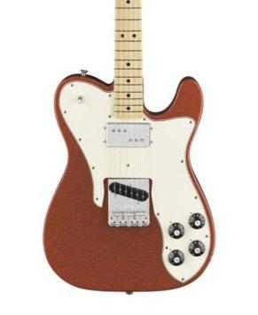 Fender FSR Limited Edition '72 Telecustom Electric Guitar-Orange Sparkle