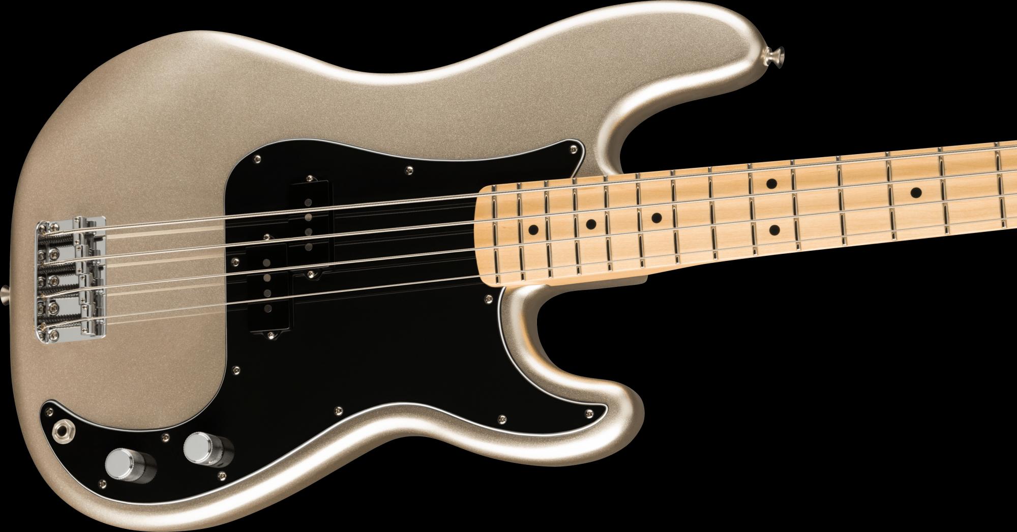 PRE-ORDER: Fender 75th Anniversary Precision Bass Maple Fingerboard - Diamond Anniversary