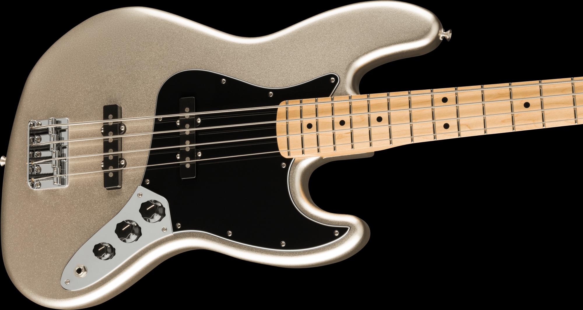 PRE-ORDER: Fender 75th Anniversary Jazz Bass Maple Fingerboard - Diamond Anniversary