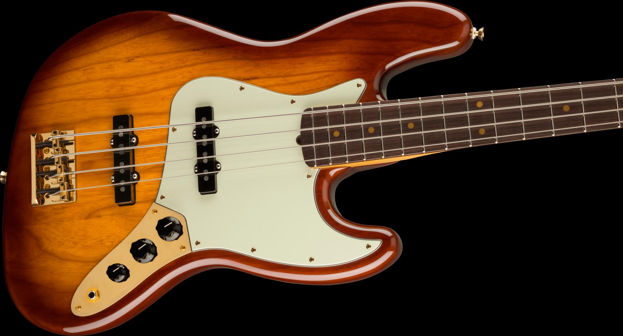 PRE-ORDER: Fender 75th Anniversary Commemorative Jazz Bass Rosewood Fingerboard - 2-Color Bourbon Burst