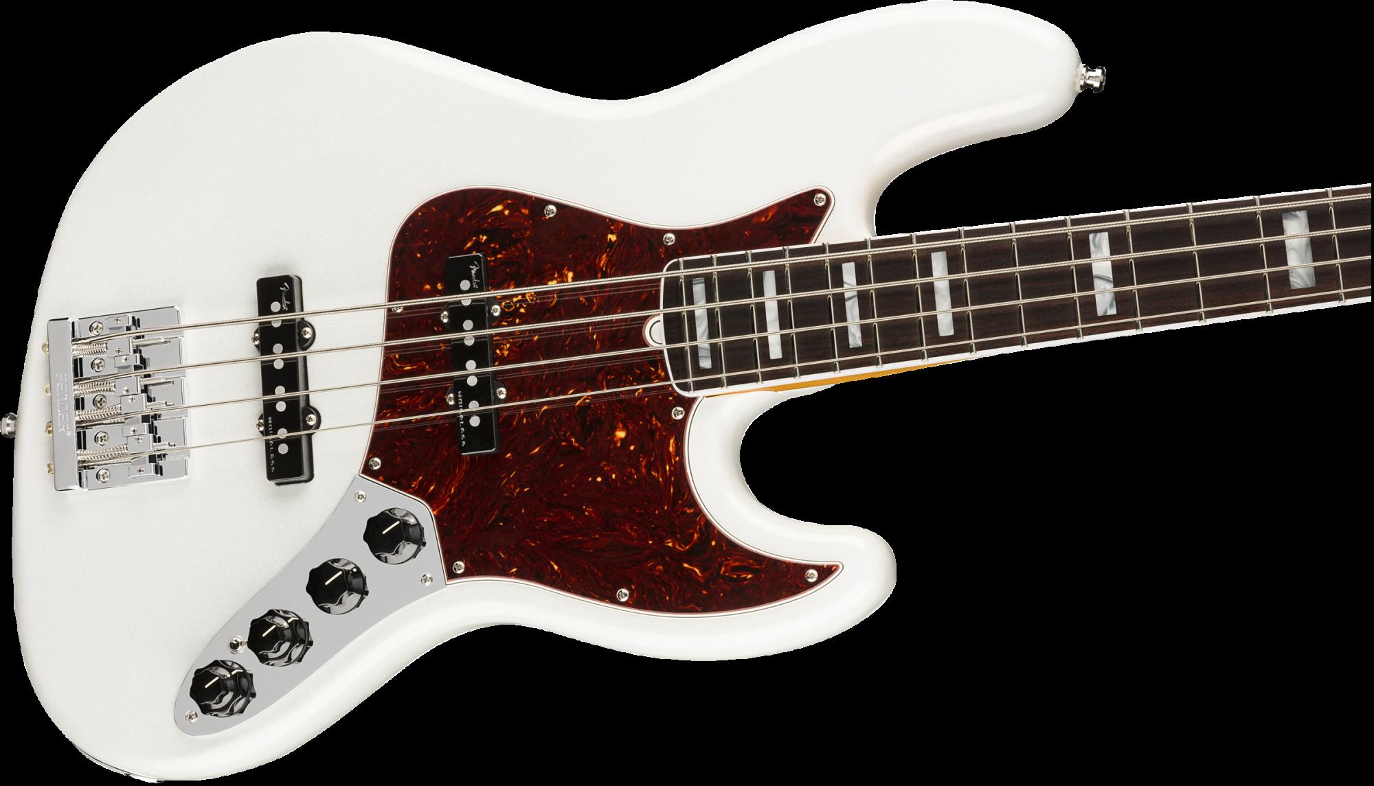 Fender American Ultra Jazz Bass Rosewood Fingerboard - Arctic Pearl