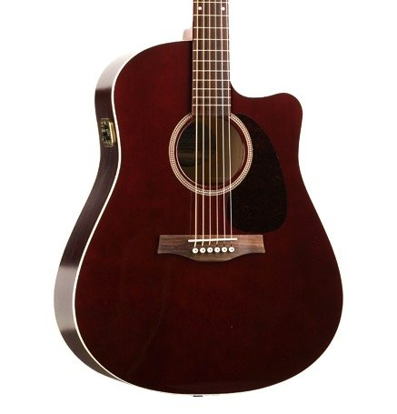 Seagull Entourage CW GT QI Acoustic-Electric Guitar-Burgundy