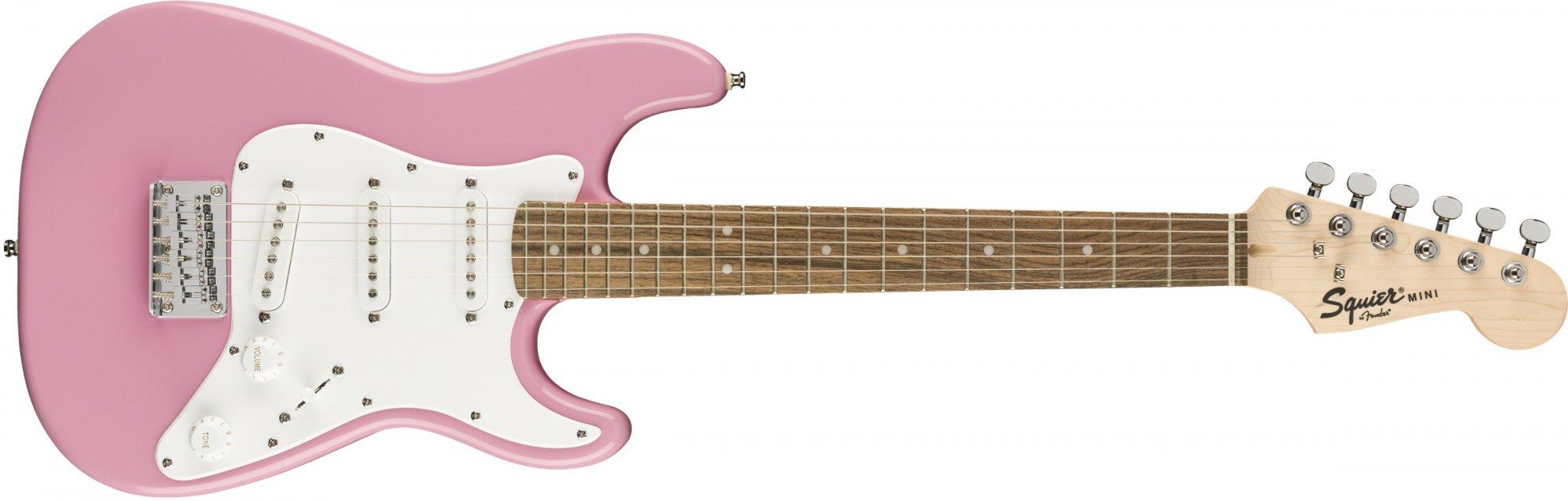 Fender Squier Mini Strat Electric Guitar-Pink