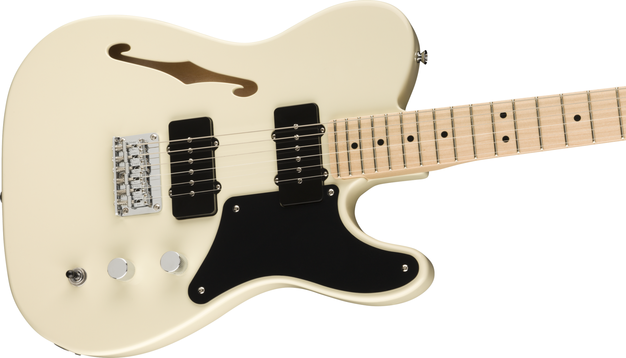 Squier Paranormal Carbronita Telecaster Thinline - Olympic White