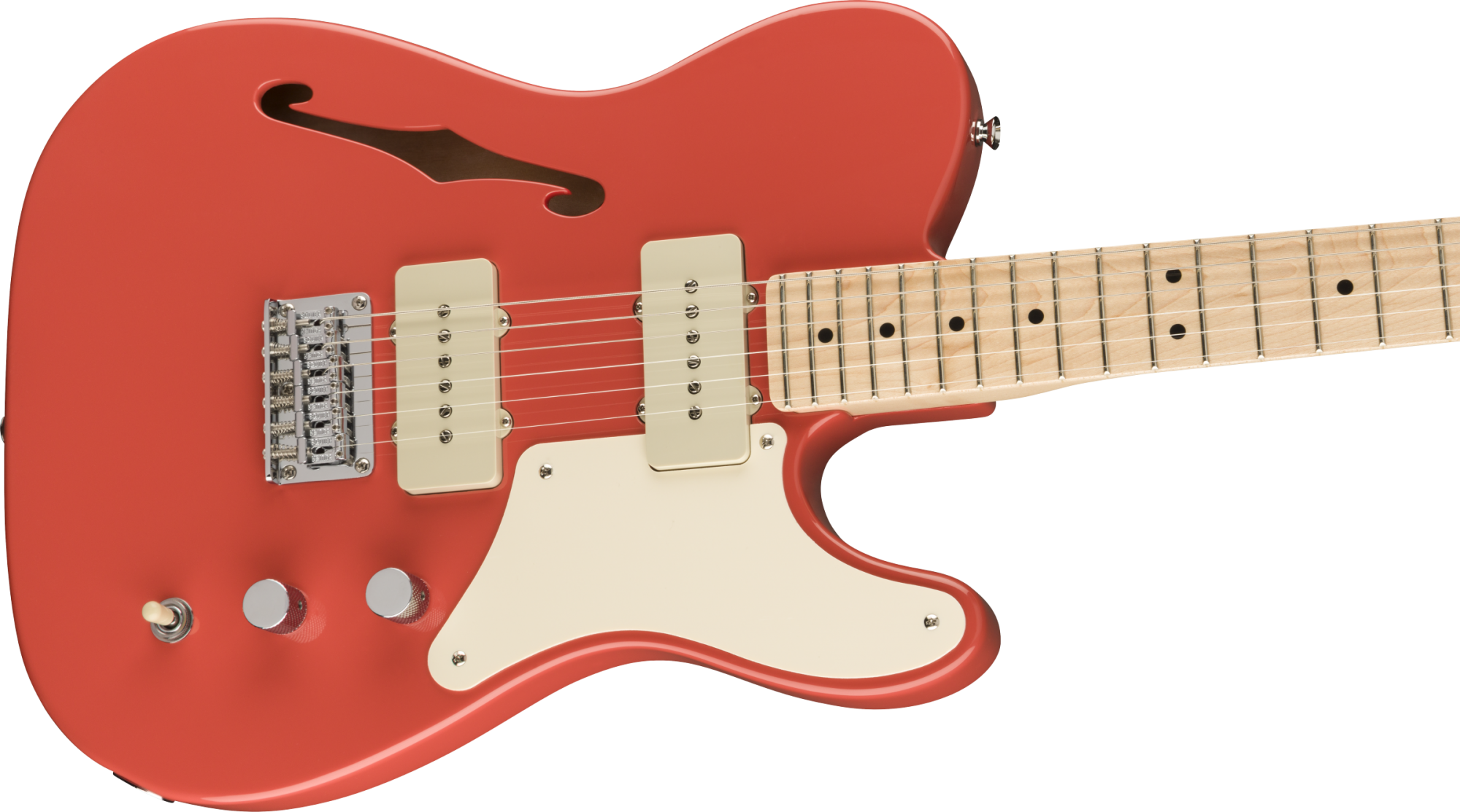 Squier Paranormal Cabronita Telecaster Thinline - Fiesta Red
