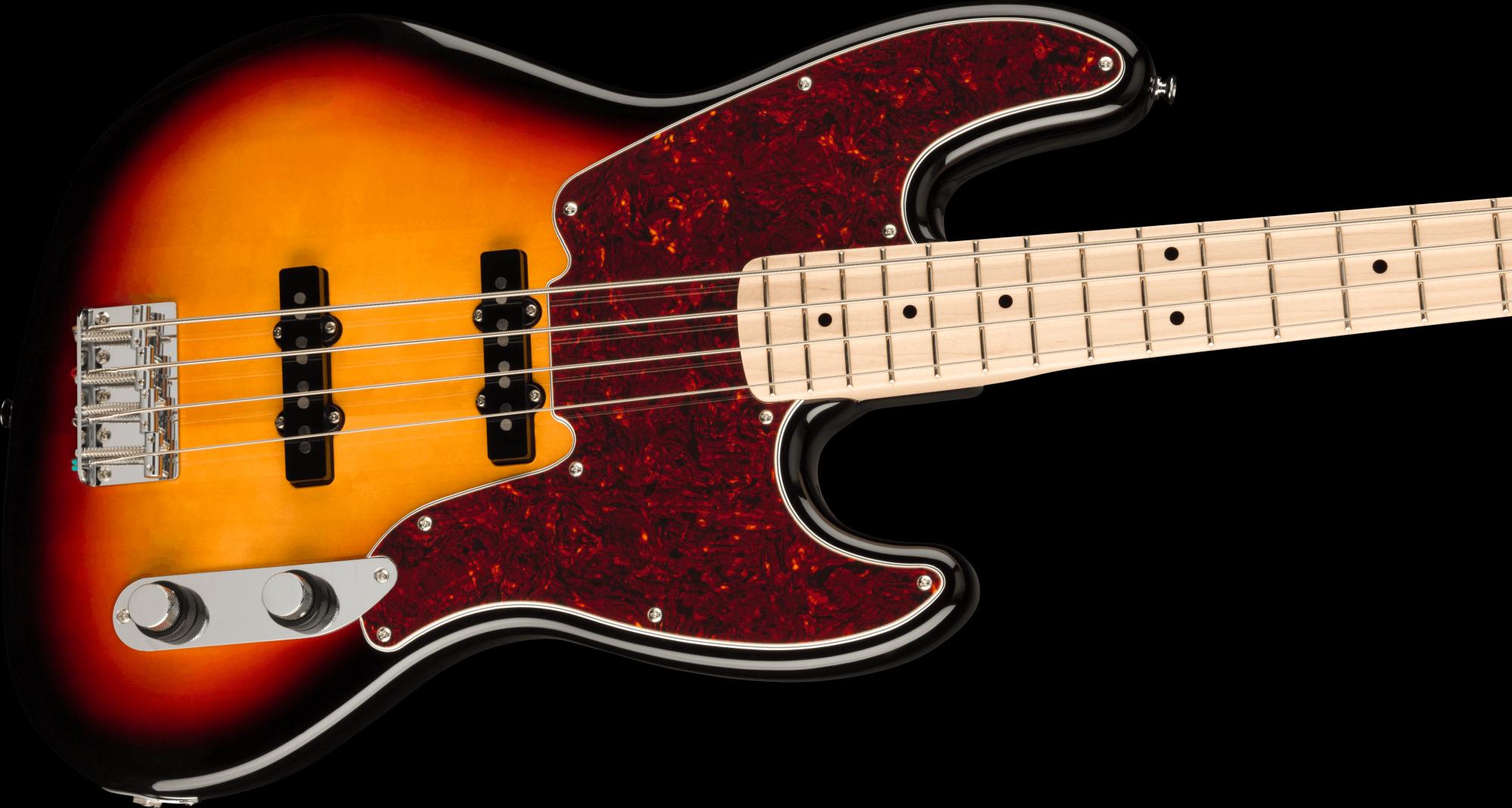 PRE-ORDER: Squier Paranormal Jazz Bass '54 Tortoiseshell Pickguard - 3-Color Sunburst