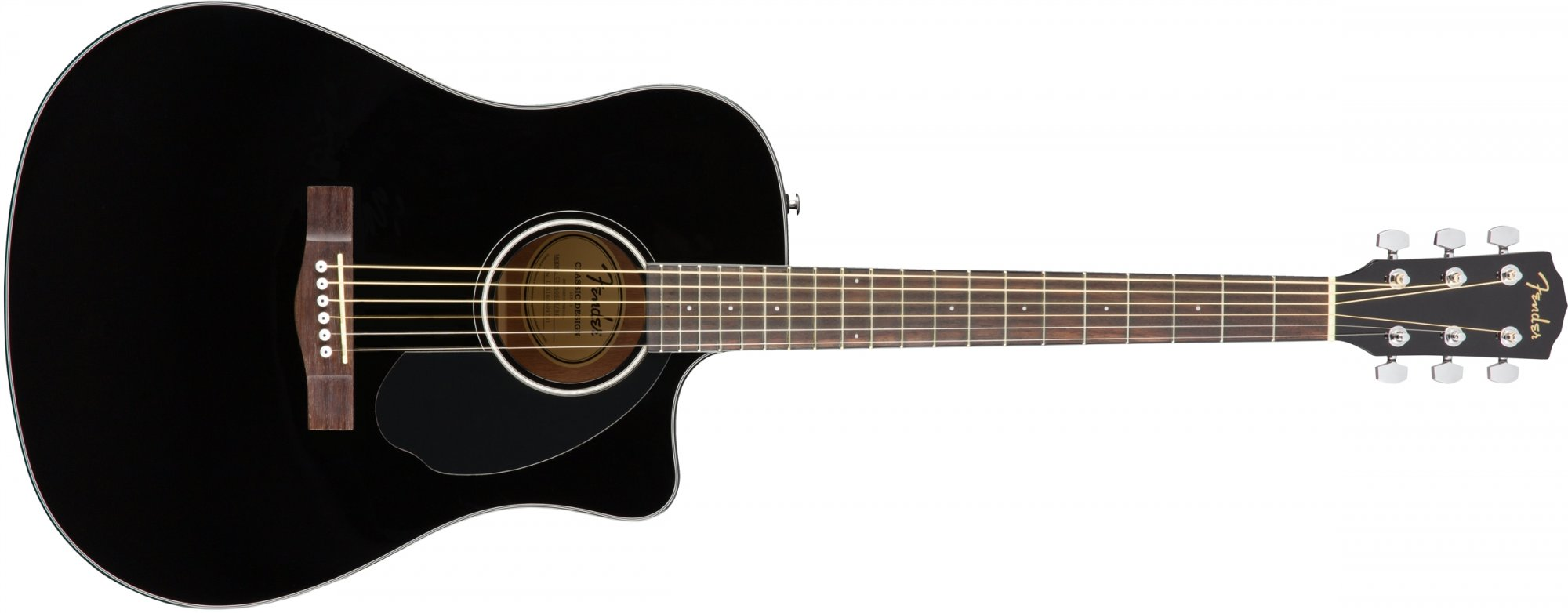 Fender CD-60SCE Acoustic-Electric Guitar-Black