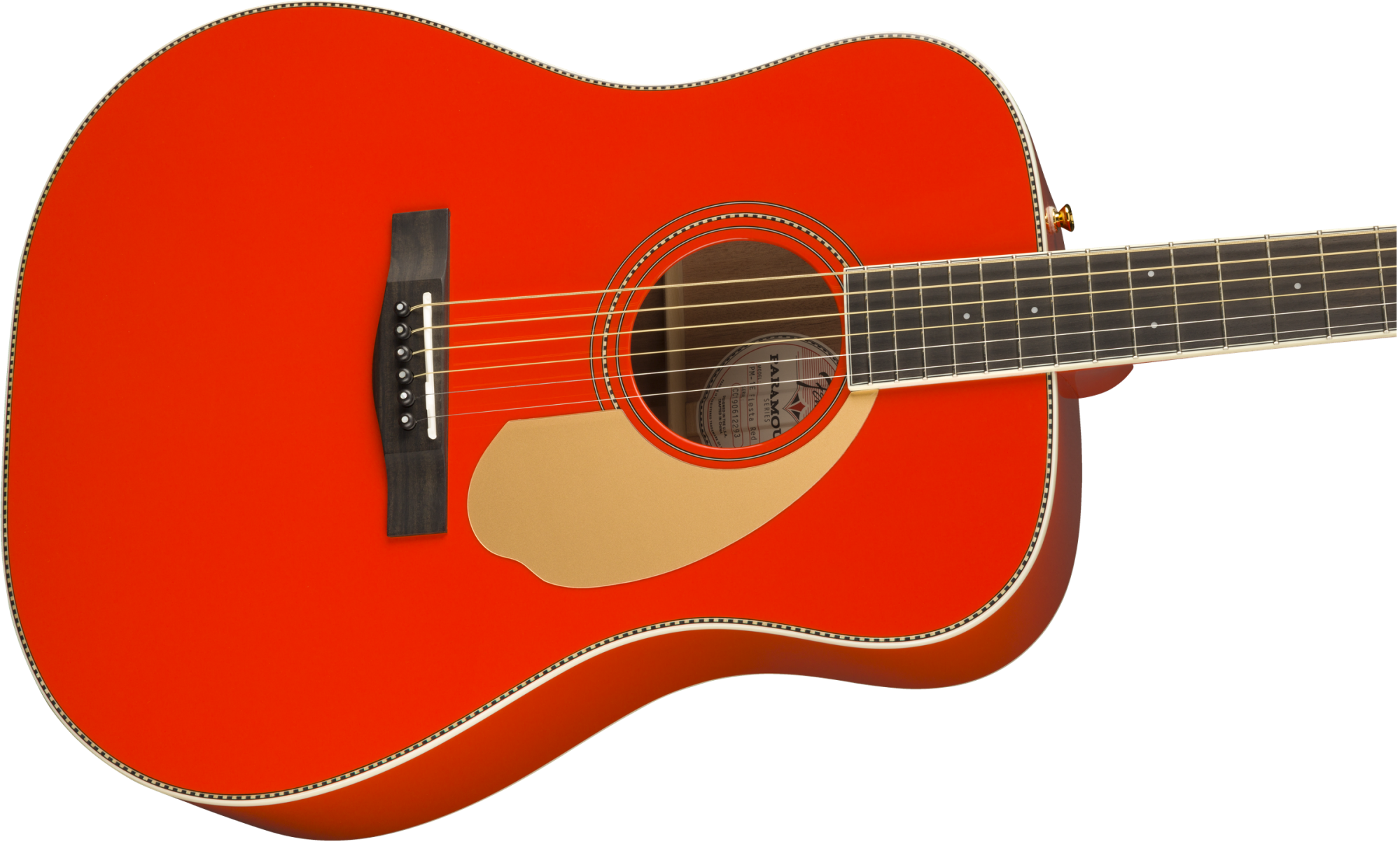 Fender PM-1 Deluxe Dreadnought with Case - Fiesta Red