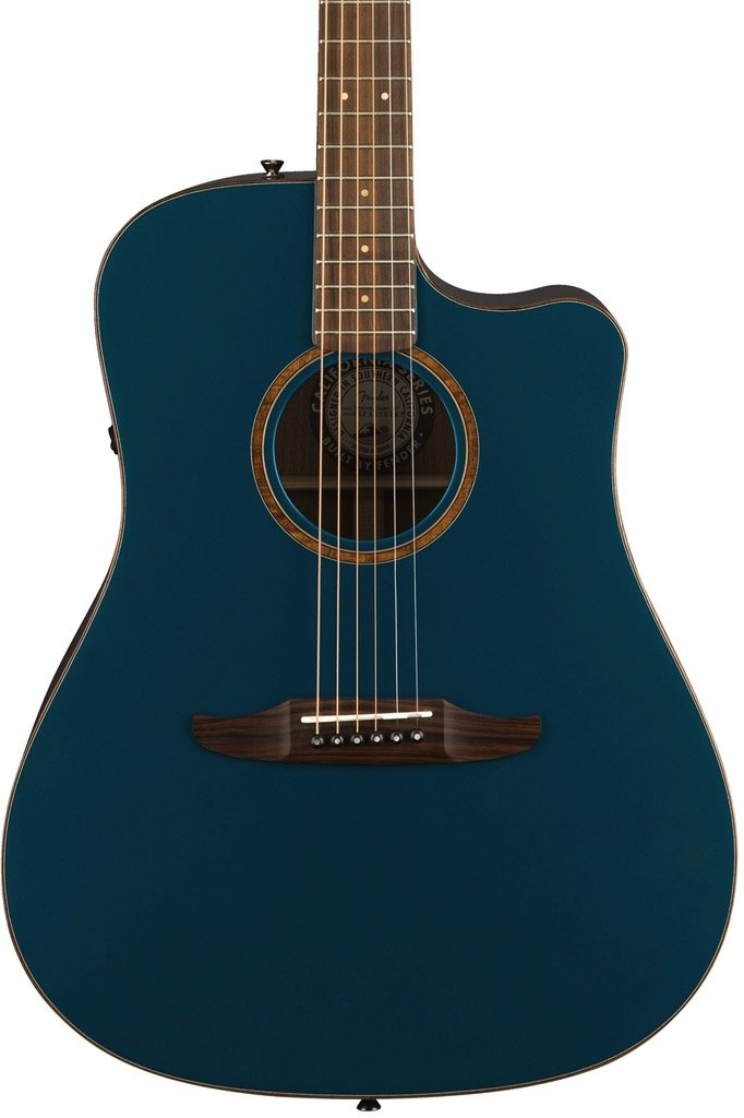 Fender Redondo Classic, Solid Sitka Spruce top and Solid Mahogany Back and Sides, Cosmic Turquoise w/ Deluxe Gig Bag