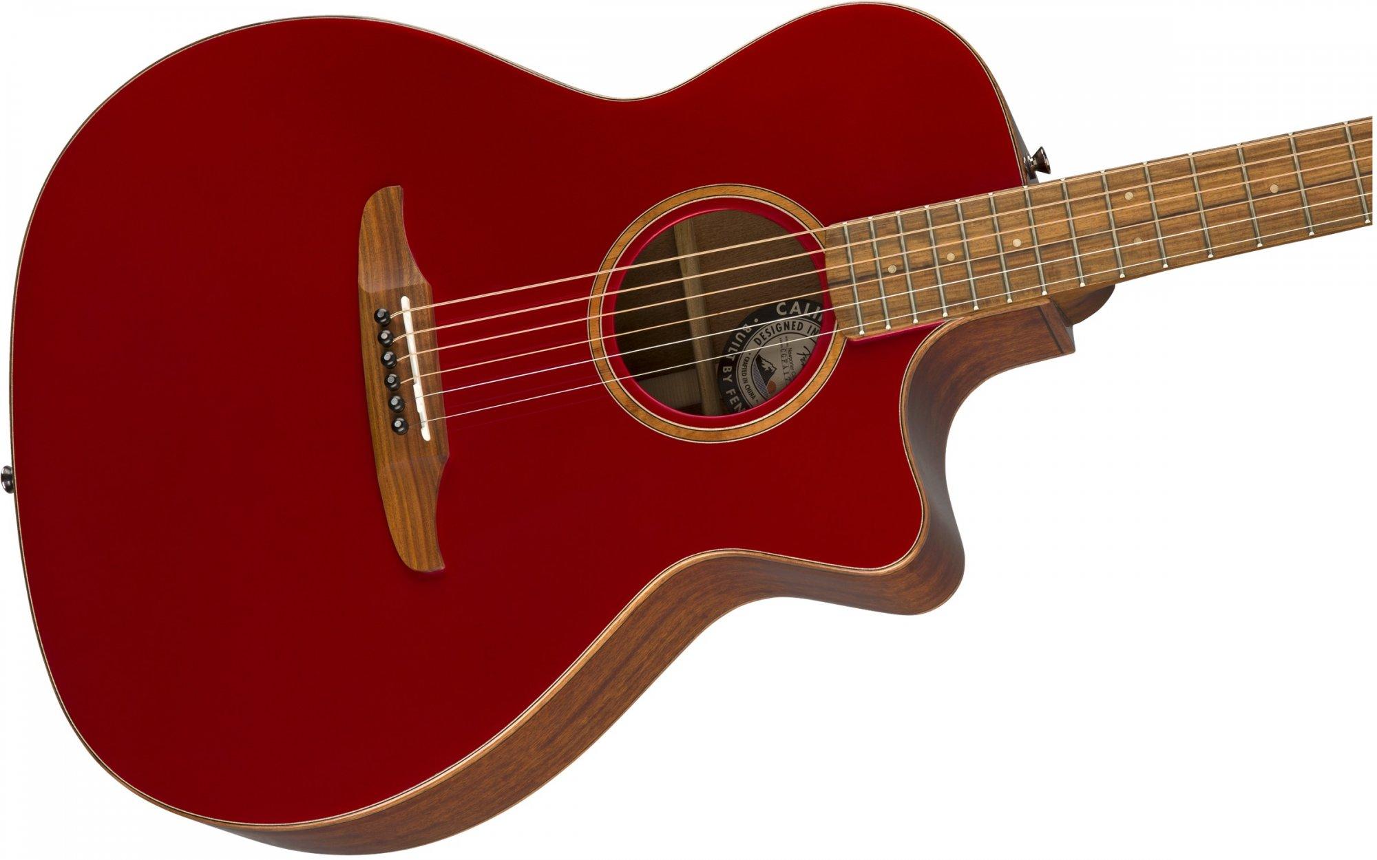 fender california series newporter classic acoustic electric guitar hot rod red metallic w bag. Black Bedroom Furniture Sets. Home Design Ideas